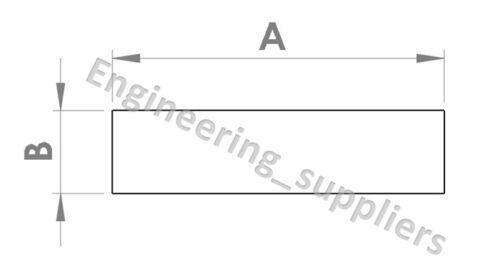 """1//2/"""" 6.4 mm 3.2 mm ou 1//4/"""" de large aluminium Flat Bar 1//8/"""" 12.7 mm épais"""