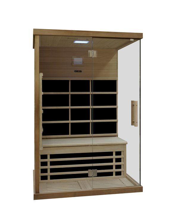 Infrarotkabine Carbon ca. 126x92 cm Wärmekabine Sauna Infrarotsauna IR Kabine
