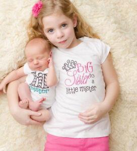 58e94e304a125 Details about Newborn Girl Baby Kids Little Brother Romper Bodysuit Big  Sister cotton Dress US