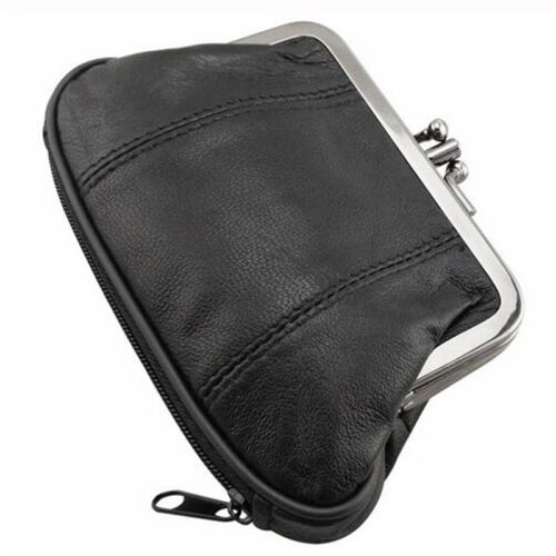 Skyler GENUINE LEATHER WOMEN/'S COIN PURSE COIN CHANGE HOLDER DOUBLE FRAME CLASP