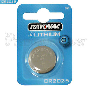 1 X Rayovac Cr2025 Battery Lithium 3v Coin Cell Watch