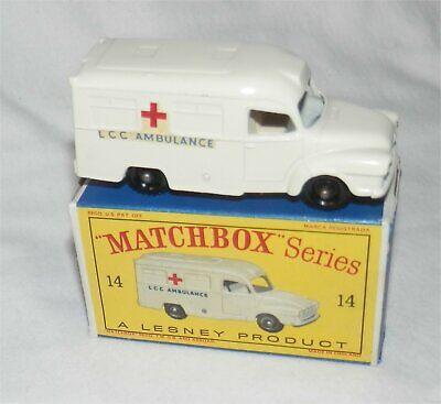 1960s Lesney Matchbox 14 Lomas Ambulanza. Bpw. Nuovo Di Zecca Con Scatola. Tutti Originali-mint In Box.all Original It-it Beneficiale Per Lo Sperma