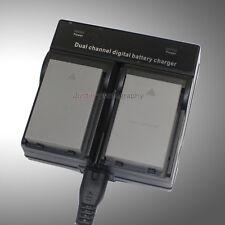 Dual Charger +2x Battery for OLYMPUS PS-BCS1 PS-BLS5 BLS50 EVOLT OM-D PEN Camera