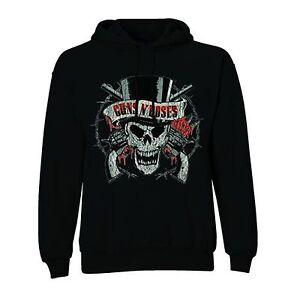 ROCKOFF-Guns-N-039-Roses-Distressed-Skull-Pullover-Black