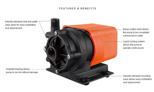 SEAFLO Marine Air Conditioning Circulation AC Pump 250 GPH Submersible 115V Boat