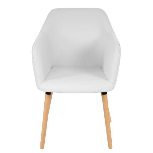 Salle à manger chaise Malmö t381 Rétro Années 50er design simili cuir blanc chaise