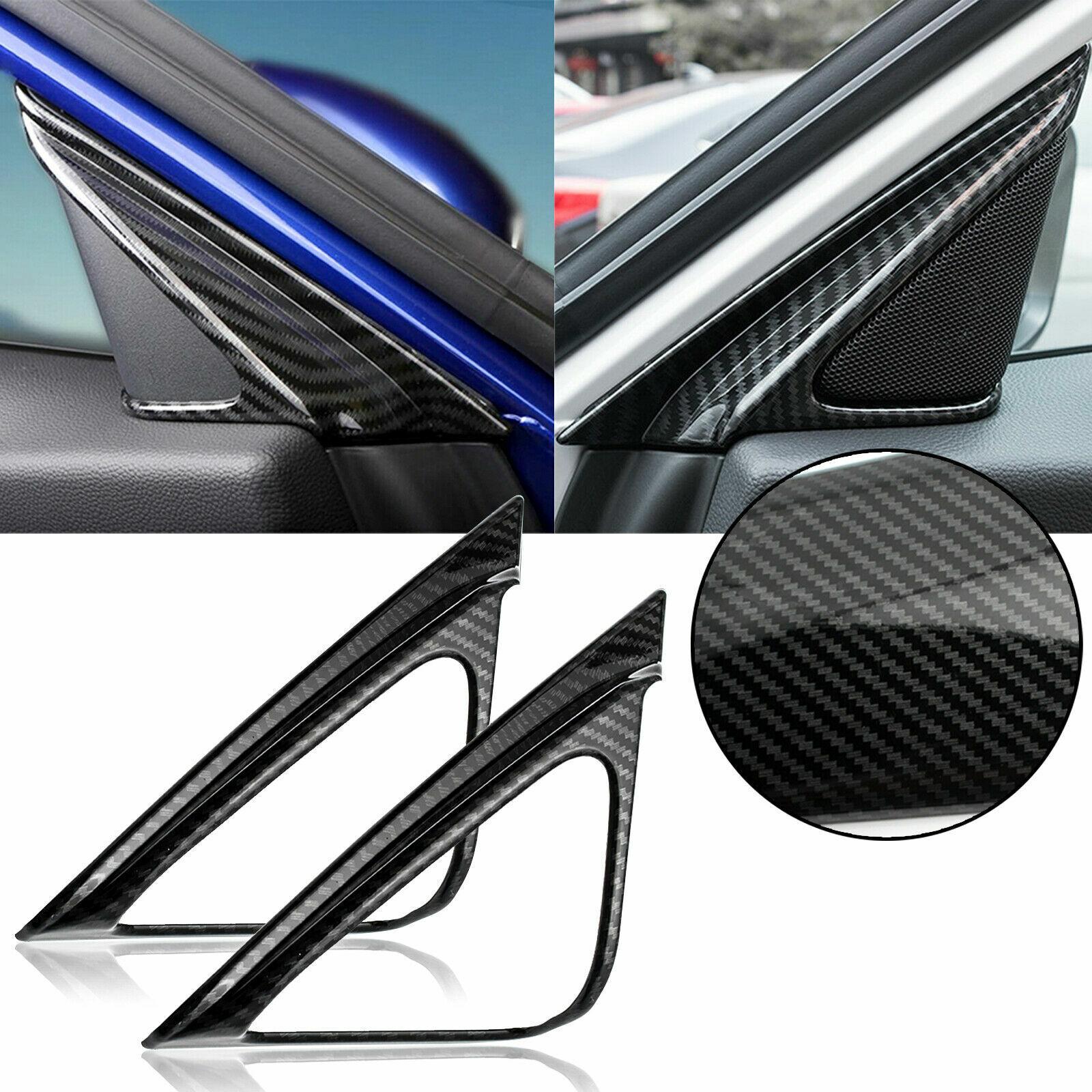 Carbon Fiber Look Dashboard Decorative Panel Cover Trim For 2016-18 Toyota RAV4