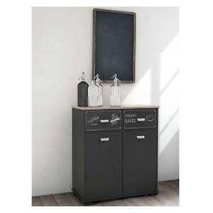 Mueble Auxiliar de Cocina K-106 Estilo Roble/Grafito/Blanco | eBay