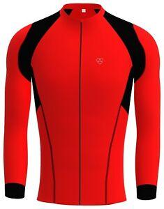 Maglia-da-ciclismo-da-uomo-Manica-pieno-inverno-Racing-Giacca-termica-Wear-Bike