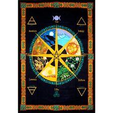 "Pagan Calendar Year Tapestry 52 x 76"" Wiccan Pagan Altar Supply Decor 57470"