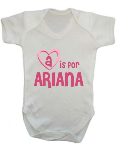 Ariana Baby Bodysuit A Is For Ariana Playsuit Baby Vest