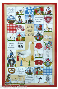 BEAUVILLE-French-Country-Dish-Towel-ALSATIAN-Food-King-Heart-Goose-Dice-GIFT