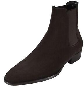 5e50a01a089 Details about NEW YSL Yves Saint Laurent Men's Brown Suede Wyatt Chelsea  Ankle Boots 40 7