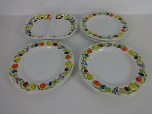 Image is loading Vintage-Dinner-Plate-Set-6-White-Franco-Giorgi- & Vintage Dinner Plate Set 6 White Franco Giorgi Quadrifoglio Santos ...