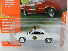 2017 Johnny Lightning *CLASSIC GOLD 1C* WHITE 1965 Pontic GTO Police Car *NIP*