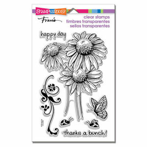Daisy-Thanks-Flower-Clear-Acrylic-Stamp-Set-by-Stampendous-Stamps-SSC1112-NEW
