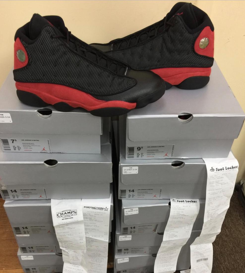 Nike Air Jordan Retro Negro 13 bred XIII Negro Retro / True Rojo 3M 414571-004 T.4 ~ 15 temporada auténticos recortes de precios, beneficios de descuentos e33da3