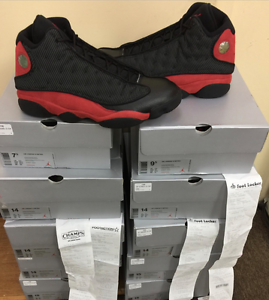 innovative design c6e75 7cf2c Image is loading Nike-Air-Jordan-Retro-13-Bred-XIII-Black-