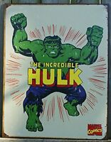 Incredible Hulk Marvel Comics Distressed Retro Vintage Tin Sign, New, Free Shipp