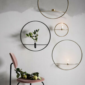Nordic-Style-Home-Decor-3D-Geometric-Candlestick-Metal-Wall-Candle-Holder-Sconce