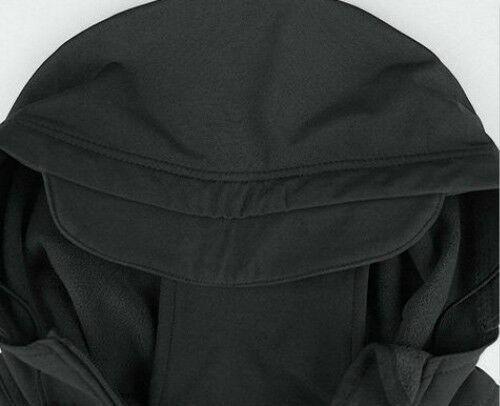 Uomo Escursioni Soft Shell Cappotto Giacca Foderata in Pile Outdoor con Militare
