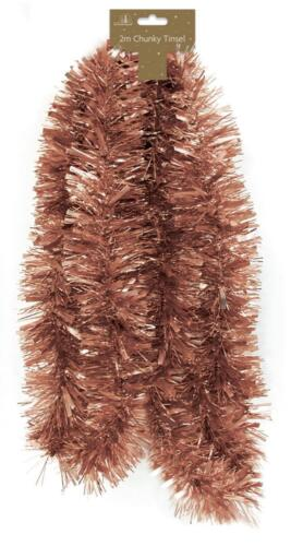 Gold Rose Gold Copper Metallics Christmas Tree Ball Bauble Hanging Xmas Decorati