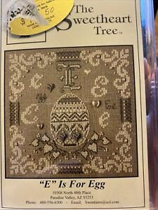 "The Sweetheart Tree ""E"" Is For Egg Cross Stitch Kit 2006 Retired From Series"