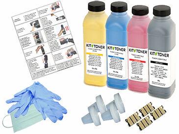 XEROX Workcentre 6015V/NI - 4 x Kits de recharge toner compatibles Noir, Cyan,