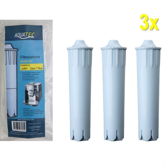 3x Filterpatrone für JURA CLARIS BLUE Kaffeevollautoamt, Kaffeemaschine