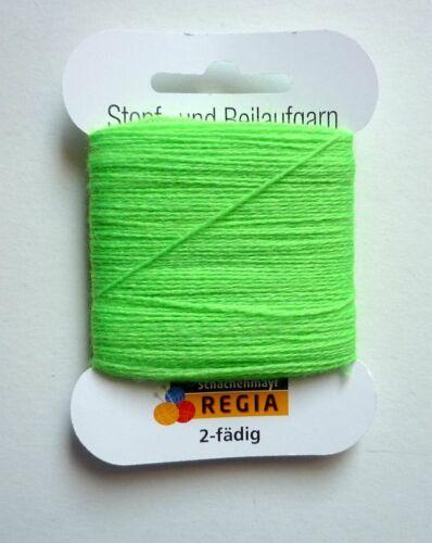 Regia Plante-U Beilaufgarn 2 fädig 5 g couleurs au choix