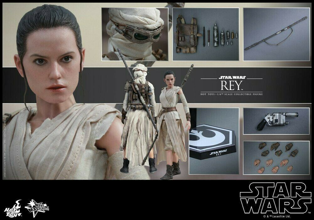 Movie Masterpiece Rey Star Wars The Force Awakens 1 6 Action Figure Hot Toys