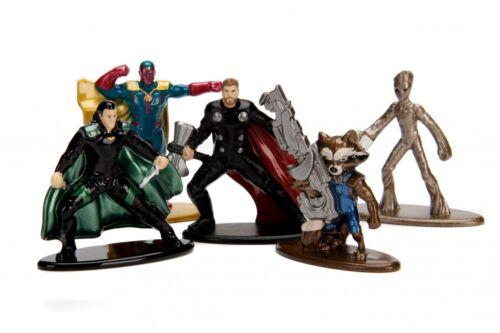MARVEL Avengers Nano metalfigs 5-Pack 7X20CM-ACTION FIGURE PER BAMBINI-Nuovo