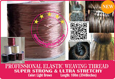 100M Brazilian Knot Hair Extension Ultra Stretchy Elastic Weaving Thread-LBrown