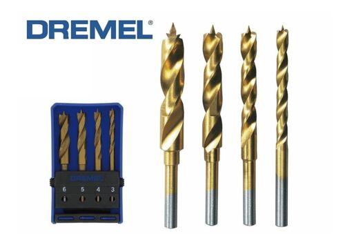 4 5 und 6mm Neu und OVP!!! 3 DREMEL 4 tlg Holz Bohrer Set 636 Gr