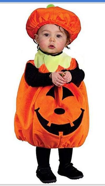 Baby Pumpkin 0-24 Months Infants Fancy Dress Girls Toddler Halloween Costume New