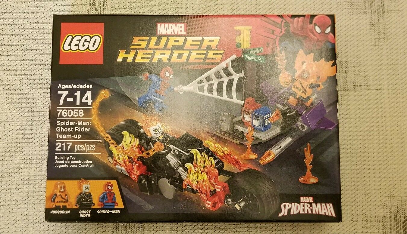 RETIRED NEW 2016 Lego GHOST RIDER Spiderman Spiderman Spiderman Figures (76058) 6cd561