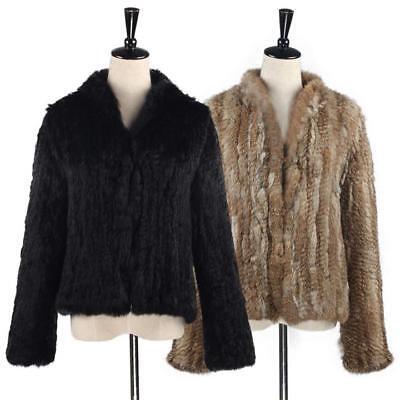 manteau court de veste de fourrure de dame vraie fourrure de lapin cardigan | eBay