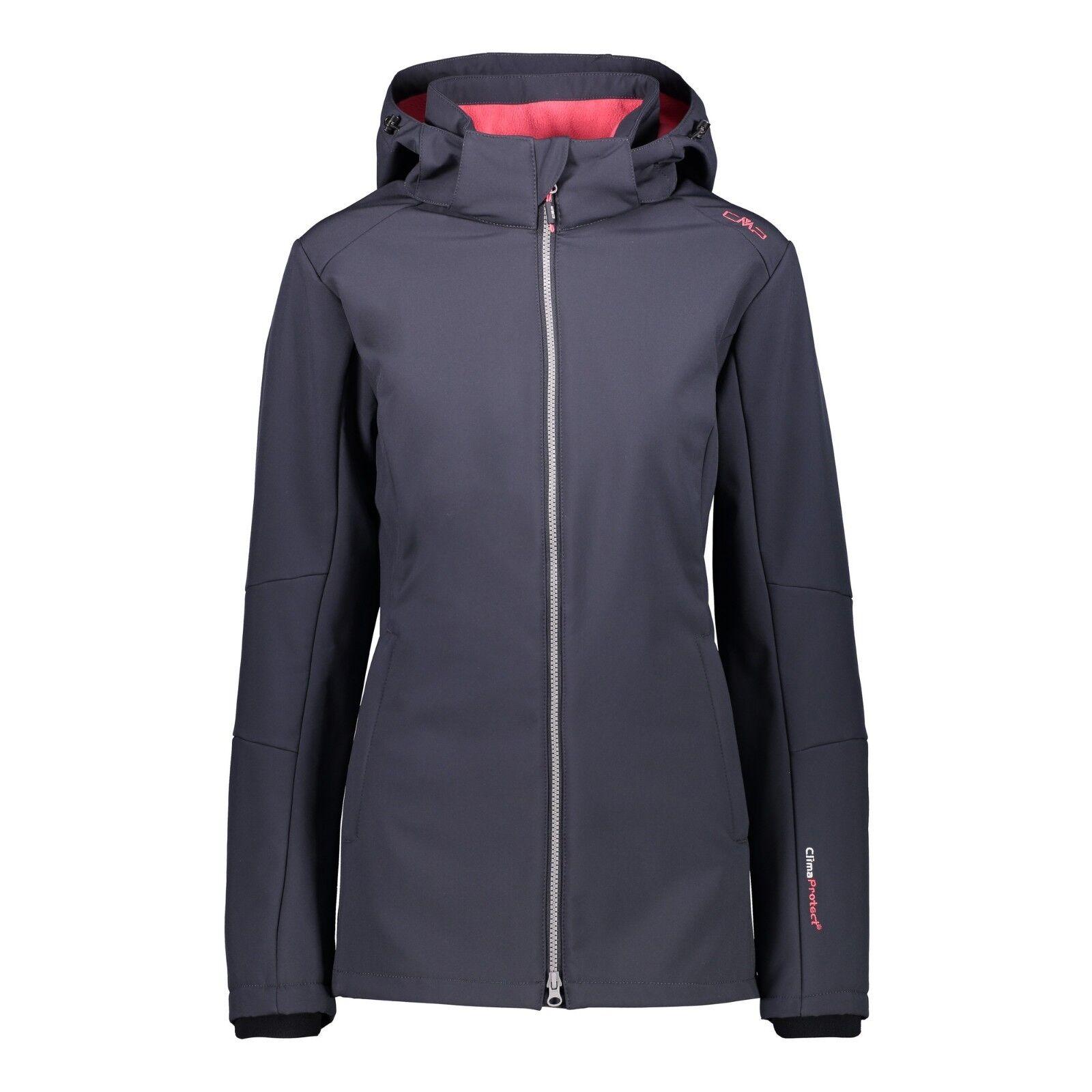 CMP Jacke 3A22226 Damen Softshelljacke Woman Jacket  grau antracite anthrazit
