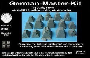 Resin-Panzersperren-Set-350025-1-35-Resin-1-35-Diorama-Zubehoer-GMK-II