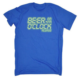 e9876fbe9c Funny Novelty T-Shirt Mens tee TShirt - Beer O Clock Alarm Glow In ...