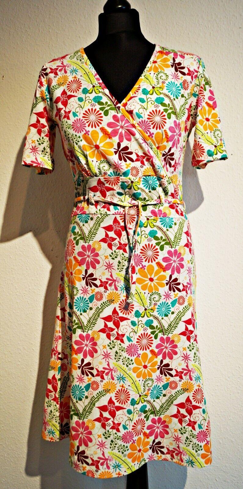 H212 Himalaya Dress Bio Cotton Cotton Cotton Jersey Fairtrade Summer Wraparound Look a75e55