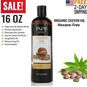 Castor-Oil-100-Pure-16oz-Organic-Cold-Pressed-Hair-Skin-Eyelashes-Eyebrows