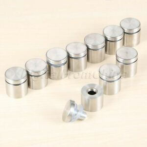 Her Kindness 20PCS Stainless Steel Advertising Screw Glass Standoff Fixings Bolts Holder Screw Sign Advertisement Nails 12 x 25mm
