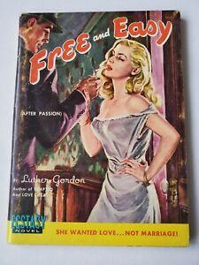 FREE-AND-EASY-Luther-Gordon-sleaze-GGA-pinup-Ecstasy-Novel-1951