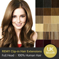 Luxury Clip in 100% Remy Human Hair Extensions Full Head