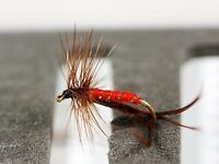 Red Hopper Crane Fly Dry Trout Fishing Flies Various Options