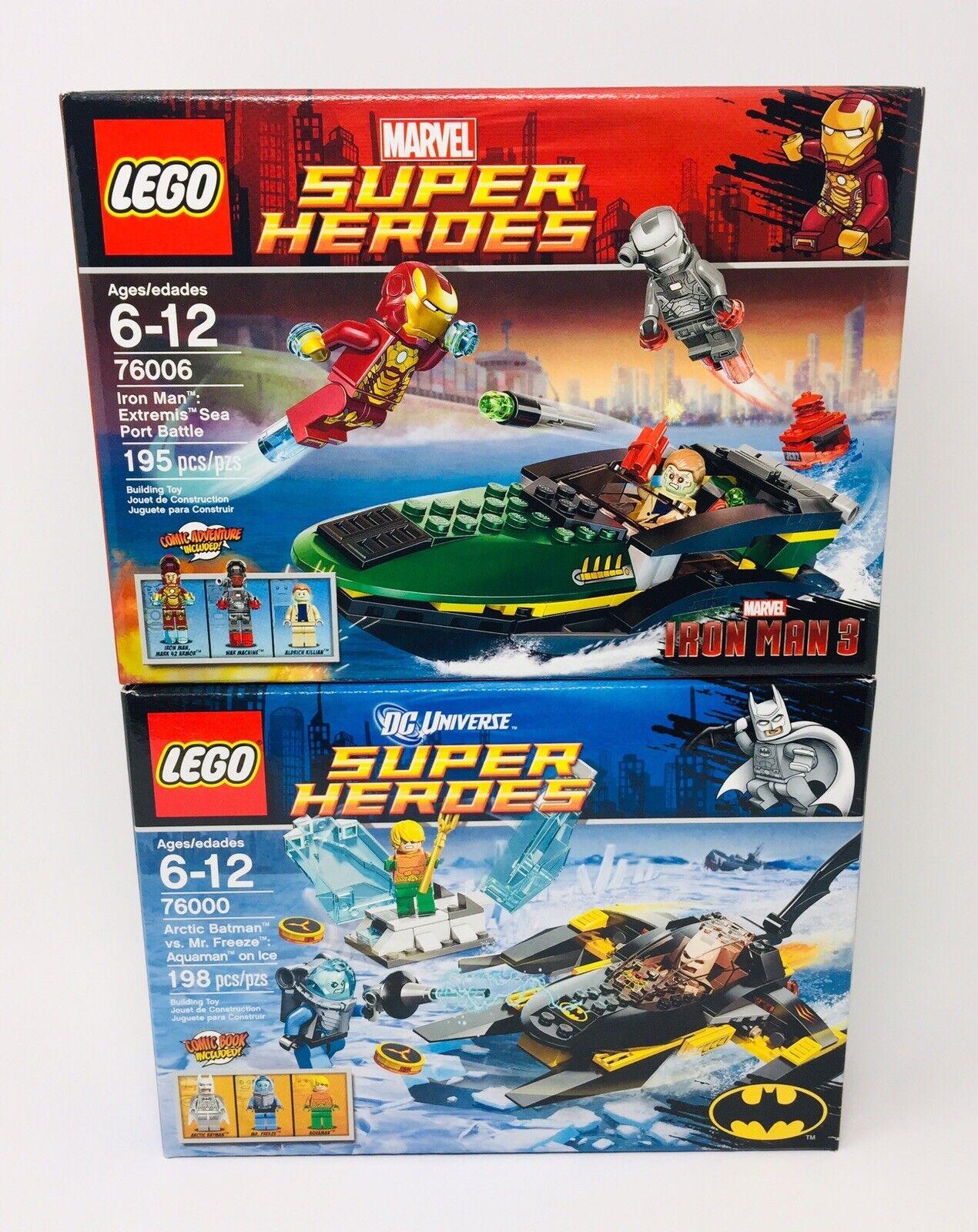 (2) Brand New Lego förundras DC Super Heroes Lot 76000 76006 Extremis Arktis
