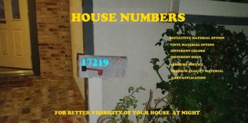 Custom Street Address Mailbox Door Boat Numbers Die Cut Vinyl Decal sticker sign