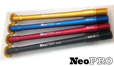 NeoPRO Scott Rear Hub Thru-Axle 142 x 12 mm lightweight anodized 31g #2740