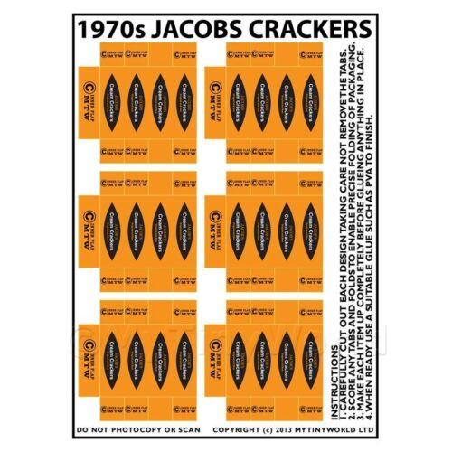 CASA delle bambole foglio di imballaggio in miniatura di 6 1970s Jacobs Cracker